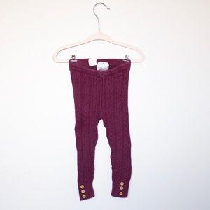 H&M Knit Legging with Button Detail sz 9-12 mos.